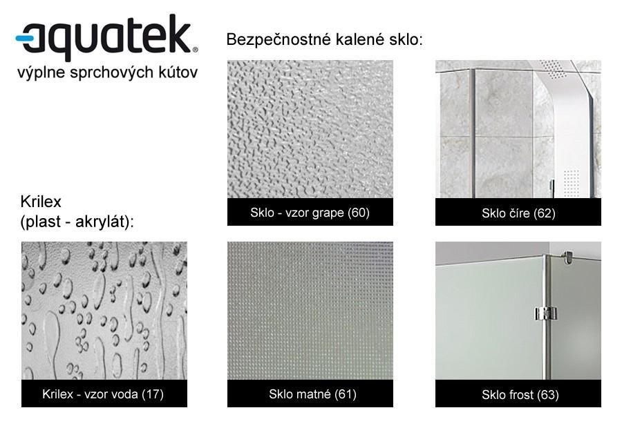 1058a51fe0bd9 Aquatek Party B1 Sprchové dvere do niky | renovuj.sk