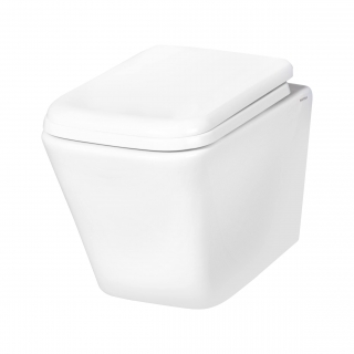 Novoterm DIAMOND WC misa závesná RimFree so sedátkom 48,5 x 34,5 cm